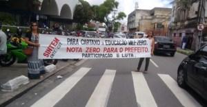 Em greve, professores voltam a fazer protesto na Câmara de JP por melhores salários