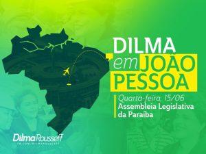 Em solo paraibano, Dilma será recebida pelo governador no Palácio da Redenção