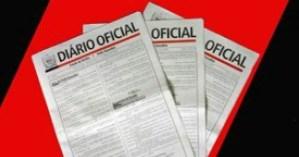 Diário Oficial do Estado traz nomeação de Nonato, Denise e esposa de Veneziano