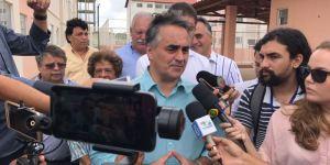 Luciano Cartaxo vistoria apartamentos em construção nesta quarta-feira