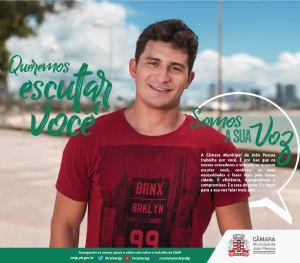 """""""A voz da sua vontade"""": Câmara de João Pessoa lança nova campanha"""
