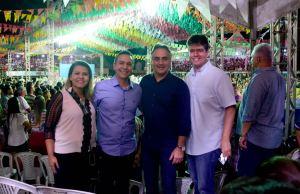 Ao lado de Panta e Ruy, Cartaxo prestigia Festival de Quadrilhas Juninas em Santa Rita