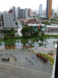 Após alagamento, Helton Renê faz comparação entre Parque Parahyba e Parque da Lagoa