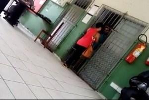 BASTIDORES: Vídeo mostra Berg Lima recebendo visita de uma mulher na prisão; veja