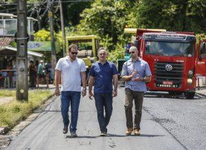 Luciano Cartaxo acompanha trabalho do 'Ação Asfalto' no Rangel