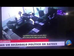 TV Arapuan divulga vídeo onde prefeito interino de Bayeux pede R$ 100 mil a empresário