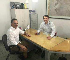 Cartaxo e Romero trocam experiências de gestão e defendem a união das oposições