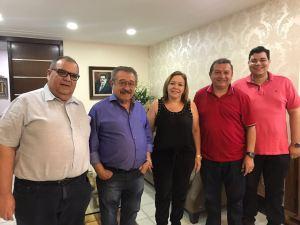Após confirmar candidatura, Maranhão se reúne com Rômulo Gouveia em CG