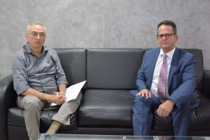Chefe de Gabinete do governador faz visita de cortesia ao  presidente da CMJP