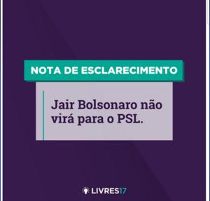 """Livres nega interesse em filiação de Bolsonaro: """"Inconsitência de pensamentos"""""""