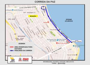 Semob-JP interdita Avenida João Maurício para a Corrida da Paz neste domingo