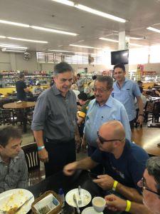 Após permanência de Cartaxo, Cássio e Maranhão tomam café juntos e debatem cenário eleitoral