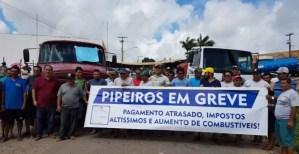 Pipeiros fecham estradas na PB em protesto à cobrança de ICMS para transporte de água