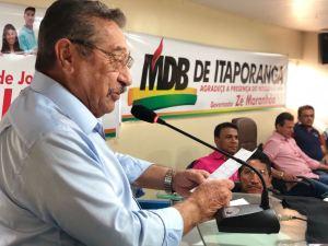 Maranhão empossa nova liderança do MDB em Itaporanga e prestigia maior torneio de futebol do mundo