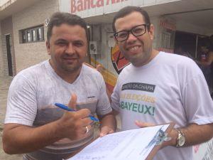 Em ato público, Leo Micena reúne assinaturas para ação judicial contra pagamento de salário de Berg Lima