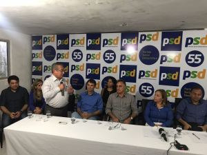 Posse de Eva Gouveia no comando do PSD da Paraíba reúne lideranças da oposição