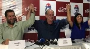 Ciro Gomes participa em JP e CG do lançamento da pré-candidatura de Lígia ao Governo do Estado