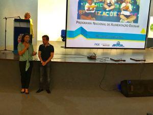 Primeira-dama Maísa Cartaxo participa de encontro do Programa Nacional de Alimentação Escolar