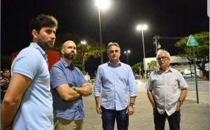 Prefeito confere nova iluminação em LED na Orla e trabalhos avançam para grandes corredores da Capital