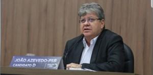 Debate em Patos: João anuncia construção de quatro batalhões de Polícia Militar