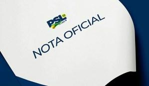 Em nota, PSL declara neutralidade na eleição complementar para Prefeitura Cabedelo