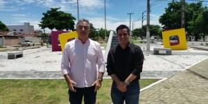 Luciano Cartaxo e Helton Renê confirmam entrega da Praça do Geisel