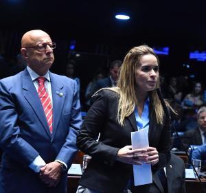 Daniella Ribeiro formaliza indicação do senador Espiridião Amin para presidência do Senado pelo Progressistas