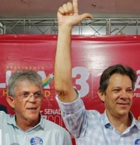 Ao lado de Haddad, Ricardo participa de ato que tentaunir esquerda na oposiçãoa Bolsonaro