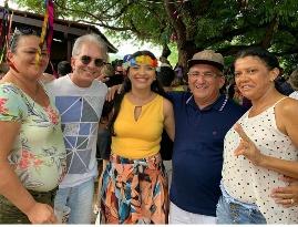 Nabor Wanderley visita bases políticas durante festejos carnavalescos
