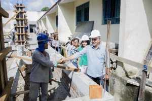 Com investimento de R$ 2 milhões, Luciano Cartaxo acompanha obras de ampliação e implantação do novo padrão de qualidade em escola em Cruz das Armas