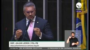 Julian Lemos defende Coaf nas mão de Moro e diz que somente os que temem investigação torcem pelo contrário