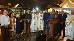 Luciano Cartaxo e primeira-dama prestigiam abertura do novenário de Nossa Senhora das Neves na Catedral Basílica