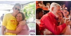 """Sandra Marrocos posta foto com Ricardo e Luiz Couto e manda recado para João: """"Tenho certeza que estou do lado certo da história"""""""