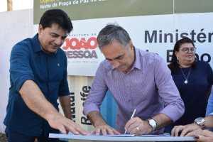 Luciano Cartaxo autoriza obras e população ganhará ginásio poliesportivo na Praça da Paz
