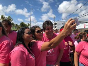 Outubro Rosa: Ruy participa da primeira caminhada do hospital São Vicente de Paulo, em João Pessoa