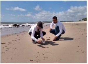 Equipe da Secretaria de Meio Ambiente detecta gotículas de óleo em Barra de Gramame