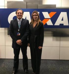 Daniella Ribeiro e presidente da Caixa confirmam inauguração da superintendência em CG no próximo dia 31