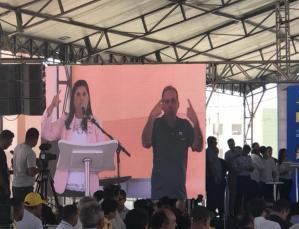 VÍDEO: Lígia Feliciano é fortemente vaiada durante discurso em solenidade de inauguração do Aluízio Campos