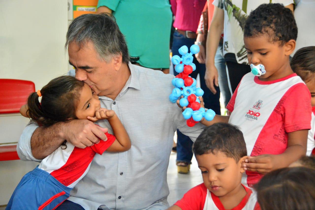 Luciano Cartaxo entrega 68ª creche em novo padrão e amplia número de vagas em berçários de 200 para 1.800