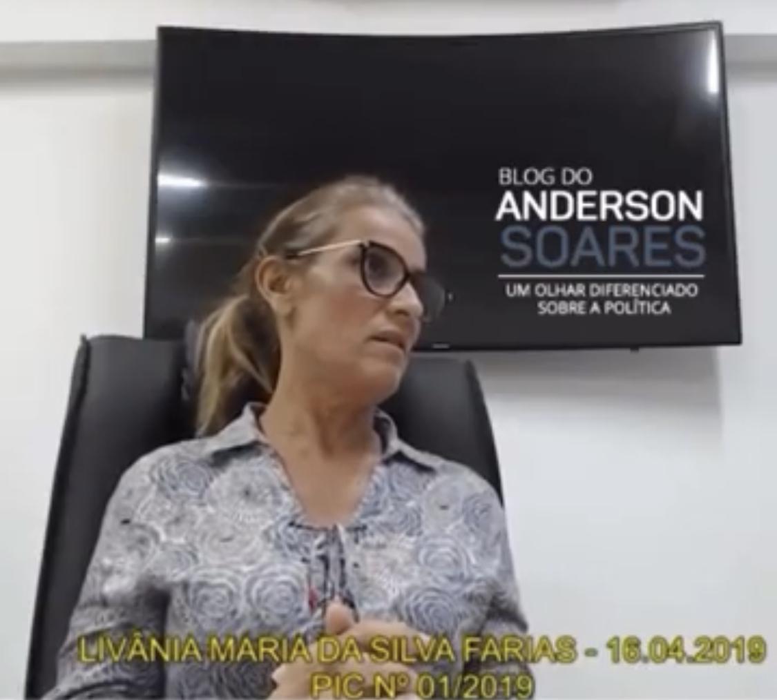 EXCLUSIVO: Livânia Farias revela pagamento de propina da Cruz Vermelha para comprar apoio de deputados na ALPB; veja o depoimento