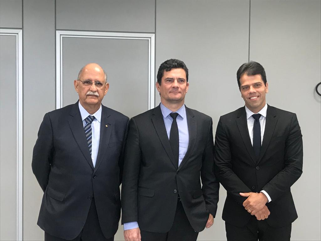 Moro se reúne com o Procurador-Geral de Justiça e reforça a parceria do Ministério da Justiça e PF com o MPPB