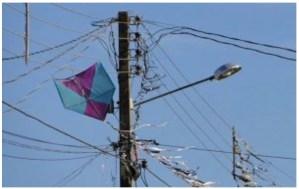 Energisa alerta sobre os riscos de pipas e outros objetos na rede elétrica