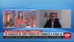 """""""Antecipar medidas ajudou a preparar a Saúde', diz Luciano Cartaxo em entrevista à CNN Brasil"""