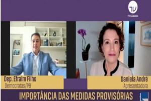 VÍDEO: Efraim Filho comenta importância das MP's no combate à pandemia