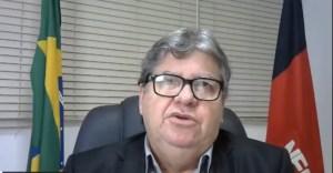 João Azevêdo concede entrevista coletiva virtual para detalhar plano de retomada gradual das atividades