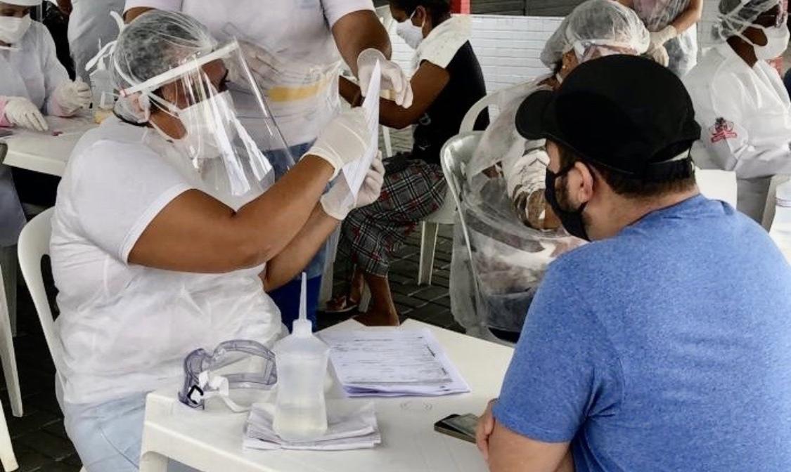 Operação Proteção, em Mangabeira, realiza 382 testes de Covid-19 e 69 pessoas atestam positivo