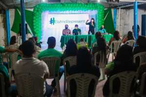 Ao lado do vereador João dos Santos e Emanno Santos, Edilma Freire defende fortalecimento dos bairros e comunidades