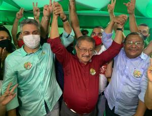Com presença do povo, do senador Maranhão e do Major Milanez, Nilvan inaugura comitê em Mangabeira