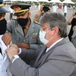 João Azevêdo participa de formatura de aspirantes a oficial do Corpo de Bombeiros Militar