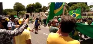 Em JP, grupo de apoiadores sai às ruas em defesa de Bolsonaro e protesta contra decisão de Fachin; veja vídeo